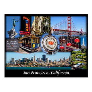 San Francisco Collage Postcard