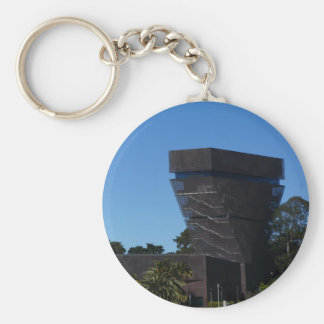 San Francisco de Young Museum Button Keychain