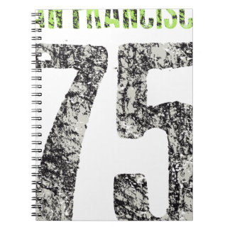 san francisco design spiral notebook