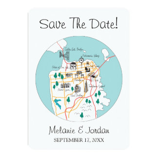 San Francisco Destination - Save The Date Card