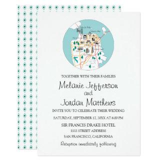 San Francisco Destination Wedding Invite