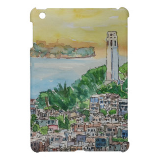 San Francisco Dusk Sunset Over Coit Tower iPad Mini Cover