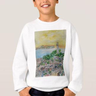 San Francisco Dusk Sunset Over Coit Tower Sweatshirt