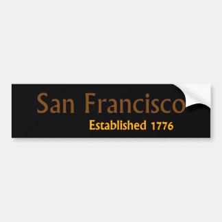 San Francisco Established Vehicle Bumper Sticker