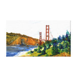 San Francisco et beau golden gate bridge Toiles Tendues