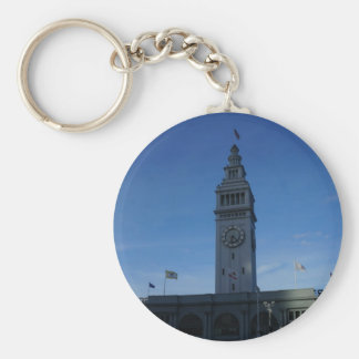 San Francisco Ferry Building Button Keychain