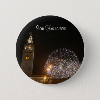 San Francisco Ferry Building Fireworks #3-1 Button