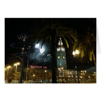 San Francisco Ferry Building Fireworks Card
