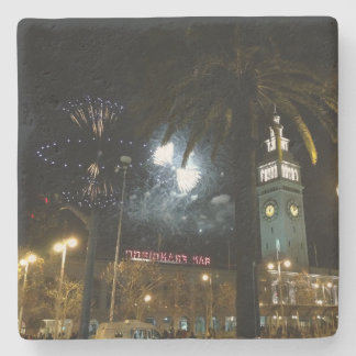 San Francisco Ferry Building Fireworks Coaster