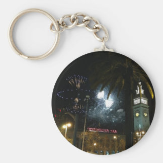 San Francisco Ferry Building Fireworks Keychain