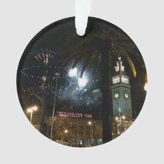 San Francisco Ferry Building Fireworks Ornament