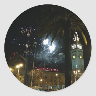 San Francisco Ferry Building Fireworks Stickers