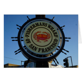 San Francisco Fishermans Wharf Card
