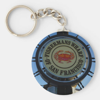 San Francisco Fishermans Wharf Keychain
