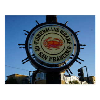 San Francisco Fishermans Wharf Postcard