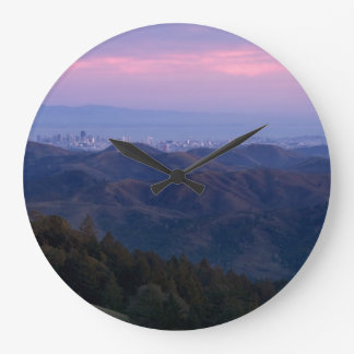 San Francisco from Mount Tam Large Clock