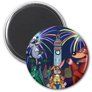 San Francisco Furry New Year Celebration 2 Inch Round Magnet