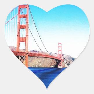 San Francisco Golden Gate Bridge California Heart Sticker