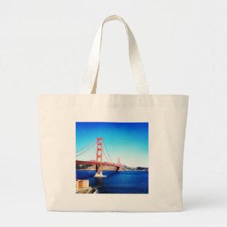 San Francisco Golden Gate Bridge California Large Tote Bag
