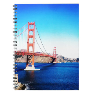San Francisco Golden Gate Bridge California Notebooks