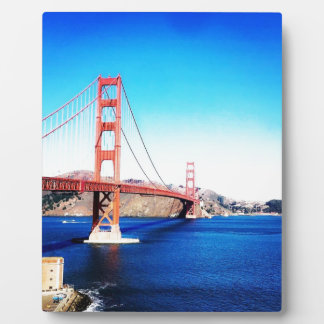 San Francisco Golden Gate Bridge California Plaque