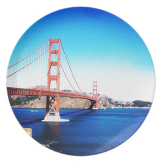 San Francisco Golden Gate Bridge California Plate