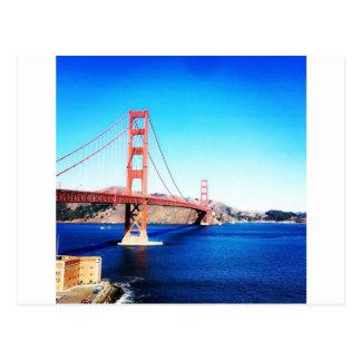 San Francisco Golden Gate Bridge California Postcard