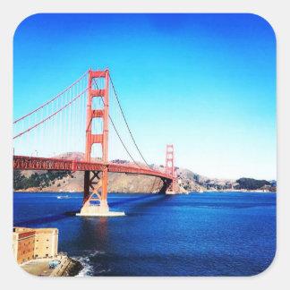 San Francisco Golden Gate Bridge California Square Sticker