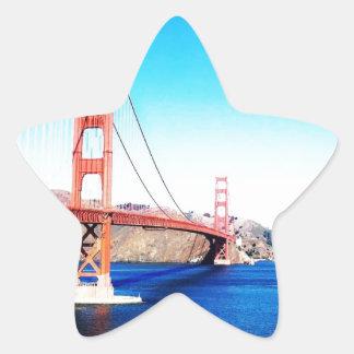 San Francisco Golden Gate Bridge California Star Sticker