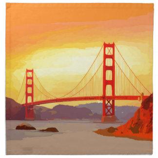 San Francisco Golden Gate Bridge Cloth Napkin