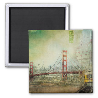 San Francisco Golden Gate Bridge Collage Magnet