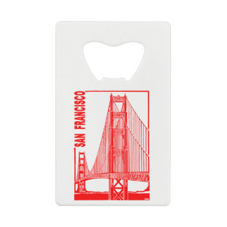 San Francisco-Golden Gate Bridge Credit Card Bottle Opener