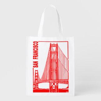 San Francisco-Golden Gate Bridge Grocery Bags