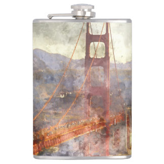 San Francisco Golden Gate Bridge in California Hip Flask