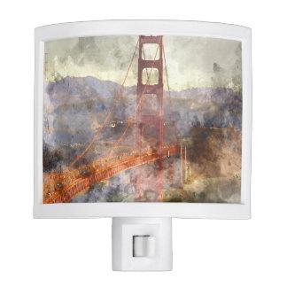 San Francisco Golden Gate Bridge in California Night Lights