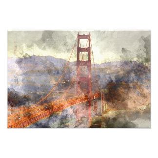 San Francisco Golden Gate Bridge in California Photo Print