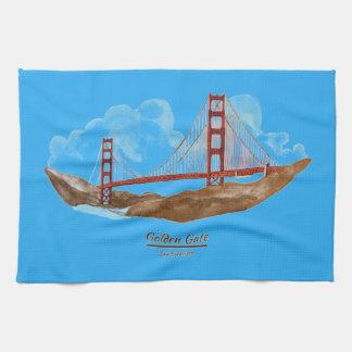 San Francisco Golden Gate Bridge Kitchen Towels
