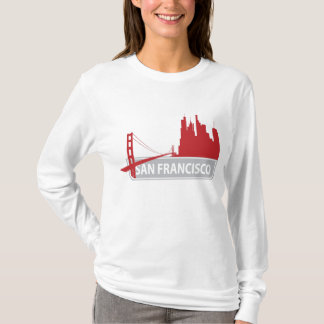 San Francisco Golden Gate Bridge Ladies Tee Shirt