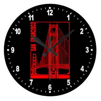 San Francisco-Golden Gate Bridge Large Clock