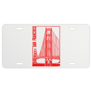 San Francisco-Golden Gate Bridge License Plate
