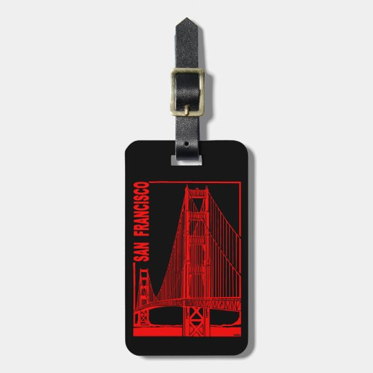 San Francisco-Golden Gate Bridge Luggage Tag