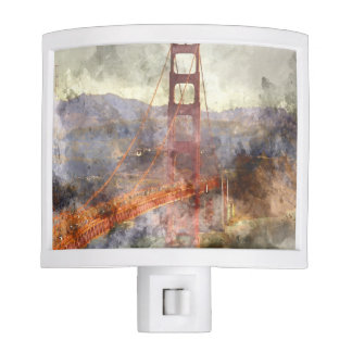 San Francisco Golden Gate Bridge Night Lights