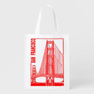 San Francisco-Golden Gate Bridge Reusable Grocery Bag