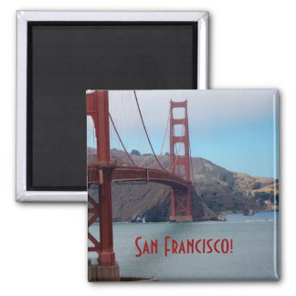 San Francisco, golden gate bridge Square Magnet