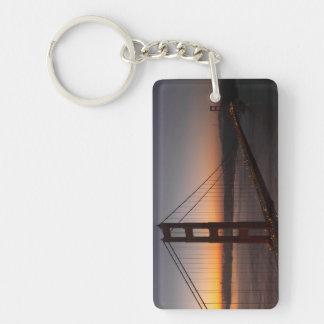 San Francisco Golden Gate Bridge Sunrise Keychain
