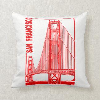 San Francisco-Golden Gate Bridge Throw Pillow