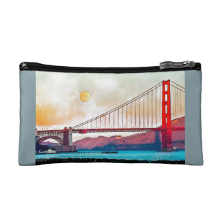 San Francisco Golden Gate Bridge. USA, America Makeup Bag