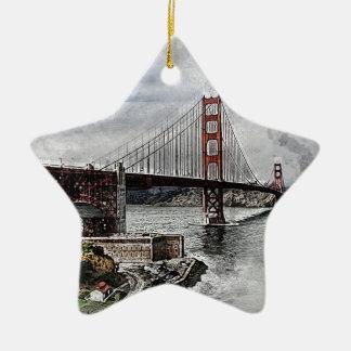 San Francisco Golden Gate Golden Gate Bridge Water Ceramic Ornament