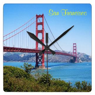 San Francisco Golden Gate Square Wall Clock