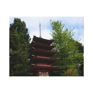 San Francisco Japanese Tea Garden  Pagoda Canvas